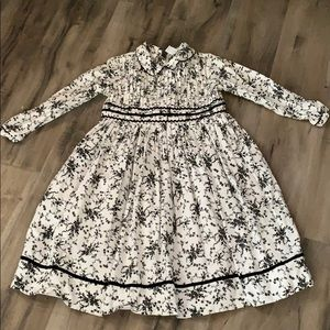 Corduroy Black n White Girls Dress